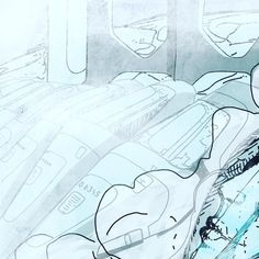 Teaser full pict on @projectch #drawing #sketch #dessin #lines #cold #ice #space #scifi #sketching #artbook #illustration