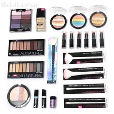Just sharing my recent @wetnwildbeauty haul from the US! I mainly wanted to get all the Unicorn themed items hence the highlighters and the lippies. This time I also got their bestselling foundation as well as their Petal Pusher palette. I finally was also able to get their Naked palette dupes their Au Naturel palettes. As well as new lipsticks and brushes! #Unicorn #UnicornGlow #WetNWild #EyeshadowPalette #highlighter