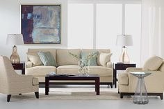 ethanallen.com - Modern Serene Living Room | Express | Ethan Allen | furniture | interior design