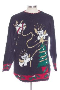 Black Ugly Christmas Pullover 30445