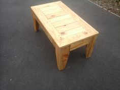 Recyled coffee table.