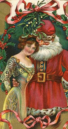 .is it just me or does this Santa look like he is thinking naughty thoughts about this girl? Ho,Ho,Ho!