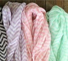 Chevron print infinity scarves are beautiful and popular. We have a variety - come and check them out! #scarves #scarfs #fashion #style #accessories #accessorize #chevron