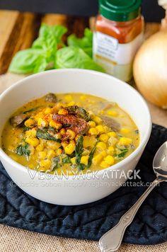 Smokey Corn Chowder from Vegan Yack Attack