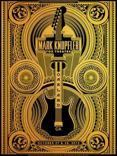 Mark Knopfler gig poster