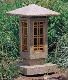 This Stone Forest original lantern is a more contemporary interpretation of the Japanese stone lantern tradition. Carved from solid granite with wood windows. Drilled to accept electric lighting. Japanese Garden Lanterns, Japanese Stone Lanterns, Modern Japanese Garden, Japanese Tea House, Japanese Design, Japanese Gardens, Garden Theme, Garden Art, Forest Garden
