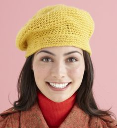 Morning Stroll Hat  This is really cute and looks easy to make. Needs to be in a different color for me though since I really can't wear yellow.