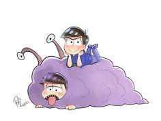 Ichimatsu and Karamatsu     Osomatsu-san Fan Art by rokitoki on Tumblr