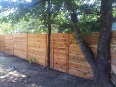 fence surrounding tree - Google Search