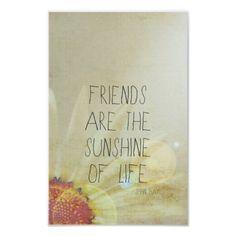 Friendship & Sunshine Poster