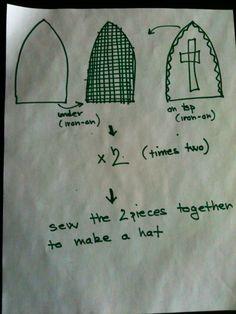 How to make a Saint Nicholas costume / Jak udelat Mikulassky kostym - Czechmatediary St Nicholas Day, The St, Saints, Reusable Tote Bags, Hat, Costumes, Sewing, Chip Hat, Dressmaking