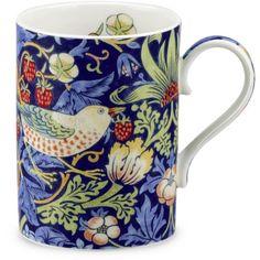 william morris mug | Buy 'Pimpernel William Morris Strawberry Thief Mug Indigo & Mineral ...