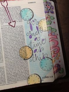 """Esther - """"For Such a time as this"""" - Bible Journaling by Nola Pierce Chandler Scripture Art, Bible Art, Bible Scriptures, Bible Study Journal, Art Journaling, Scripture Journal, Esther Bible, Bible Doodling, Christian Movies"""
