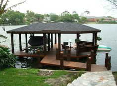 How to Build a Lake Pier   ... Covered Boat Docks Plans   How To and DIY Building Plans Online Class