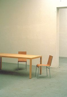 T88W Table & LC93 chair designed by Maarten van Severen