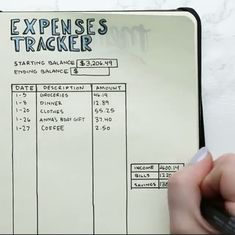 Nifty // Bullet Journal // Expense Tracker // Budgeting - Tap the link to shop on our official online store! You can also join our affiliate and/or rewards programs for FREE!