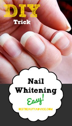 fill a bowl with water, add a Polident tablet to the bowl and soak the fingertips for 5 minutes.  If your nails have yellowed from a particular nail polish, it may take up to 3 times to remove the stains.