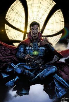 "extraordinarycomics: "" Doctor Strange by Cristian Sabarre. """