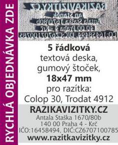 Textový štoček - deska pro razítka Colop 30, Trodat 4912