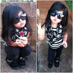 Little Fashionista  Little Girl Outfits, Little Girl Fashion, My Little Girl, My Baby Girl, Kids Outfits, Cute Outfits, Baby Outfits, Fashion Kids, Toddler Fashion
