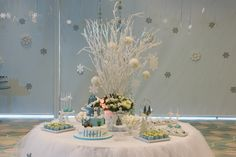 Frozen Candy Table Frozen Themed Birthday Party, Birthday Party Themes, Frozen Candy Table, Table Decorations, Kids, Home Decor, Toddlers, Homemade Home Decor, Boys