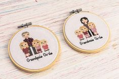 The perfect little gift for the grandparents in your life. Bothy, Little Gifts, Grandparents, Cross Stitch Embroidery, Needlework, Personalized Items, Life, Grandmothers, Sewing