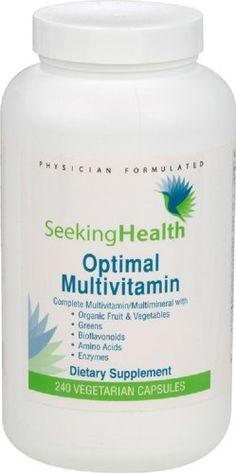 Optimal Multivitamin | Provides Organic Fruits And Vegetables, Greens, Bioflavonoids, Amino Acids And Enzymes | 240 Easy-To-Swallow Vegetarian Capsules | Seeking Health Seeking Health http://www.amazon.com/dp/B004DSBQZS/ref=cm_sw_r_pi_dp_2Snfvb0515JN8