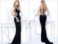 Wholesale Evening Dresses - Buy 2013 Sexy Black Tarik Ediz Women Evening Dresses Long Sheath Scoop Chiffon Open Back Beading Prom Party Dress Gown 2014 New Fashion, $219.0 | DHgate