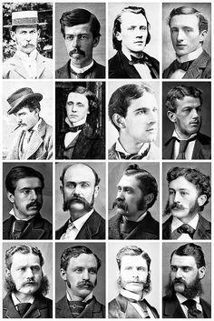 Victorian Men's Hairstyles & Facial Hair