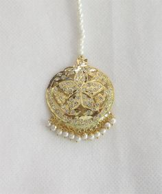 Gold Plated Jadau Star Maang Tikka/ Indian by Beauteshoppe on Etsy