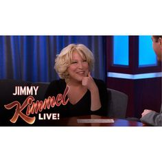 From Bette's instragram:  Jimmy Kimmel Live! airing LIVE MEAN TWEETS tonight w/me, Dwayne Johnson & Liam Neeson. @jimmykimmel.  But nothing beats #AskTrump!
