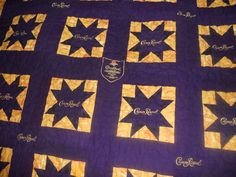 Katie's Quilts and Crafts: Crown Royal Quilt Finished!