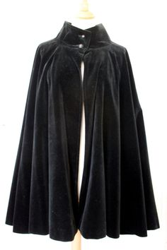 CHLOE VINTAGE BLACK VELVET COAT CAPE / PONCHO   eBay