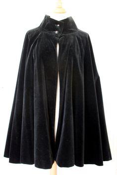 CHLOE VINTAGE BLACK VELVET COAT CAPE / PONCHO | eBay