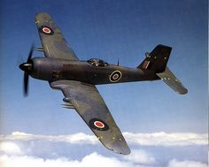 """gazingskywardtv: """"This Day in Aviation History February 1942 First flight of the Blackburn Firebrand. The Blackburn Firebrand was a single-engine strike fighter for the Fleet Air Arm of the Royal Navy designed during World War II by Blackburn. Aircraft Photos, Ww2 Aircraft, Fighter Aircraft, Military Aircraft, Fighter Jets, Air Photo, Ww2 Planes, Royal Air Force, Pilot"""