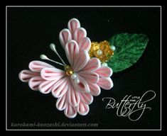 Little Pink Butterfly by Kurokami-Kanzashi