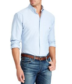 Polo Ralph Lauren Men's Big and Tall Classic Fit Long-Sleeve Oxford Shirt - Blue Source by hngthicm casual outfits Style Casual, Work Casual, Men Casual, Smart Casual Man, Business Casual For Men, Men's Style, Casual Wear, Stylish Mens Outfits, Casual Outfits