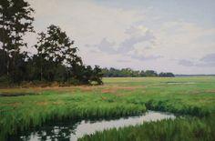 "Oil,  ""Peaceful Marshscape"" by Michael B. Karas."