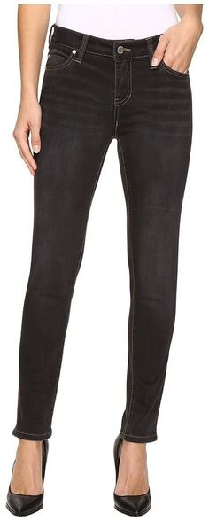 Liverpool Petite Abby Skinny Jeans in Sulphur Grey Wash Women's Jeans