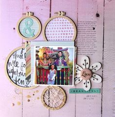 Love #layout by Nancy Damiano for #SCTmagazine #scrapbooking #NSD2015