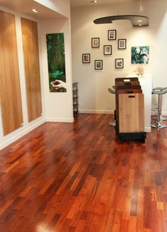 If you're looking for attractive flooring with a natural wood finish that's easy to clean and quick to install, then a pre-finished engineered wood floor is best option for you.