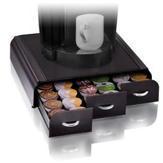 The Anchor Coffee Pod Drawer is the new generation of coffee pod storage! Choose from three models: K-Cups (holds 36, and available in black or w...