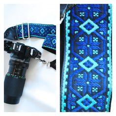 Vintage Woven Tapestry Guatemalan Mexico South American America Ethnic Native Geometric Tribal Camera Strap Handle Universal VTG 60s Gyspy