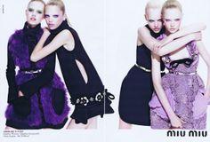 Mod Felt and Lace Dresses | Miu Miu (F/W 2010)