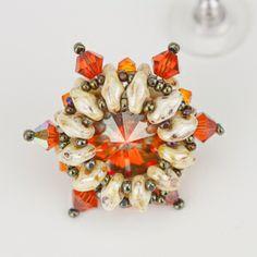 Starburst Rivoli Frame Earrings - full tute & materials list ~ Seed Bead Tutorials