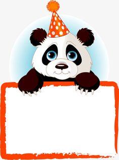 Panda label PNG and Clipart Panda Birthday Cake, Birthday Cake Clip Art, Panda Names, Name Tag Templates, Jungle Theme Birthday, Boarder Designs, Frozen Wallpaper, Panda Art, Cute Clipart