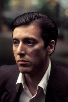 Al Pacino as Michael Corleone...Devastatingly handsome, sexy as hell, and enigmatic... Swoon. Il Capo di tutti capo.