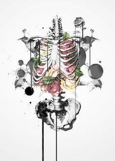 lost within — art-tension: Benson Koo Wal Art, Skeleton Art, Medical Art, Anatomy Art, Gothic Art, Skull Art, Art Inspo, Amazing Art, Fantasy Art