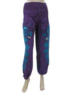 Womens Harem Pant Blue Purple Medallion Boho Yoga Pants Mogul Interior,http://www.amazon.com/dp/B00G0OE83U/ref=cm_sw_r_pi_dp_jY-ysb0M27W01T18
