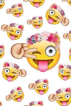 Emoji Background Tumblr | Emojis | via Facebook em We Heart It .